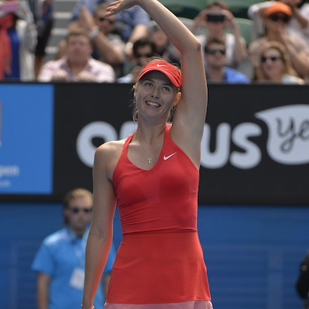 _PB12954 - 2015 29th January. Day 11 of the Australian Open Tennis. Maria Sharapova (RUS) defeats Ekaterina Makarova in straight sets 6-3 6-2 Sharapova...
