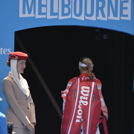 _PB12982 - 2015 29th January. Day 11 of the Australian Open Tennis. Maria Sharapova (RUS) defeats Ekaterina Makarova in straight sets 6-3 6-2 Sharapova...