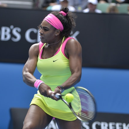 _PB13016 - 2015 29th January. Day 11 of the Australian Open Tennis. Serena Williams (USA) defeats Madison Keys (USA in straight sets 7-6 6-2 Williams in...