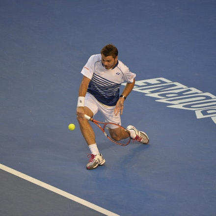 _PB14762 - 2015 30th January. Day 12 of the Australian Open Tennis. Novak Djokovic (SBR) defeats Stan Wawrinka (SUI) 7-6 3-6 6-4 4-6 6-0 Wawrinka in action