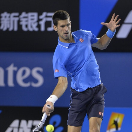_PB14979 - 2015 30th January. Day 12 of the Australian Open Tennis. Novak Djokovic (SBR) defeats Stan Wawrinka (SUI) 7-6 3-6 6-4 4-6 6-0 Djokovic in action