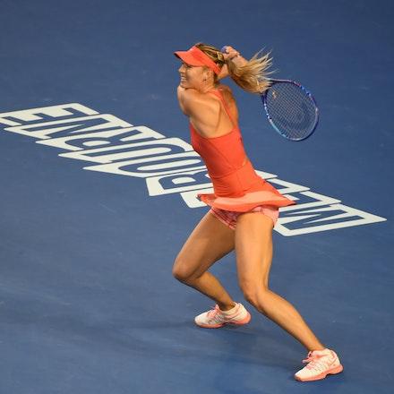 SMA_7279 - 2015 31st January. Day 13 of the Australian Open Tennis. Women's final, Serena Williams (USA) defeats Maria Sharapova (RUS) in straight sets...
