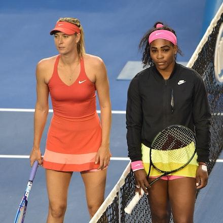 SMA_7232 - 2015 31st January. Day 13 of the Australian Open Tennis. Women's final, Serena Williams (USA) defeats Maria Sharapova (RUS) in straight sets...