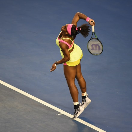 SMA_7341 - 2015 31st January. Day 13 of the Australian Open Tennis. Women's final, Serena Williams (USA) defeats Maria Sharapova (RUS) in straight sets...