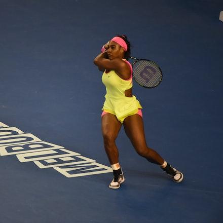 SMA_7302 - 2015 31st January. Day 13 of the Australian Open Tennis. Women's final, Serena Williams (USA) defeats Maria Sharapova (RUS) in straight sets...