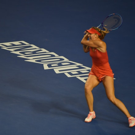SMA_7422 - 2015 31st January. Day 13 of the Australian Open Tennis. Women's final, Serena Williams (USA) defeats Maria Sharapova (RUS) in straight sets...