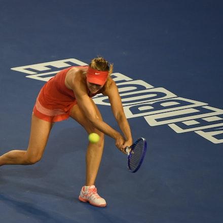 SMA_7412 - 2015 31st January. Day 13 of the Australian Open Tennis. Women's final, Serena Williams (USA) defeats Maria Sharapova (RUS) in straight sets...