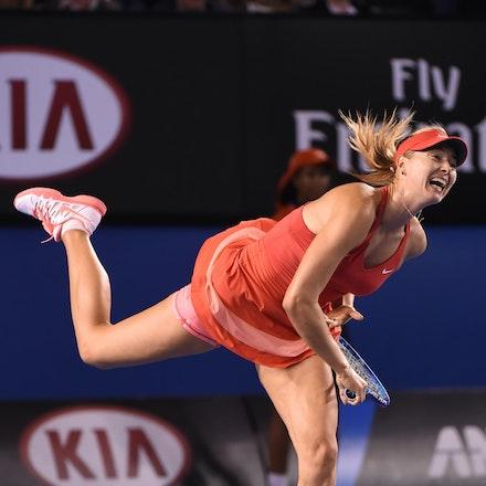 SMA_7596 - 2015 31st January. Day 13 of the Australian Open Tennis. Women's final, Serena Williams (USA) defeats Maria Sharapova (RUS) in straight sets...