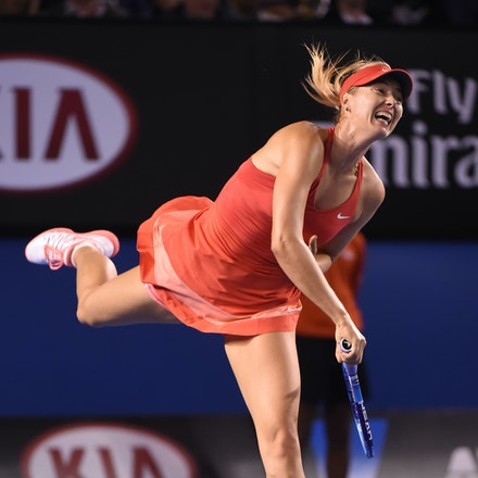 SMA_7601 - 2015 31st January. Day 13 of the Australian Open Tennis. Women's final, Serena Williams (USA) defeats Maria Sharapova (RUS) in straight sets...