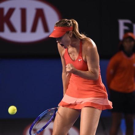 SMA_7625 - 2015 31st January. Day 13 of the Australian Open Tennis. Women's final, Serena Williams (USA) defeats Maria Sharapova (RUS) in straight sets...