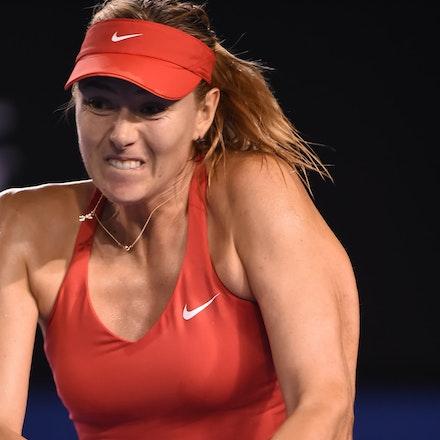 SMA_7660 - 2015 31st January. Day 13 of the Australian Open Tennis. Women's final, Serena Williams (USA) defeats Maria Sharapova (RUS) in straight sets...