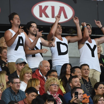XF3_8901 - 2015 1st February. Day 14 of the Australian Open Tennis. Men's final, Novak Djokovic (SRB) V Andy Murray (GBR) Murray fans in action