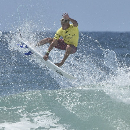 _XF22857 - 2015 12th February. Day 6 of the Australian Open of Surfing held at Manly Beach. Luke Davies (USA) in action