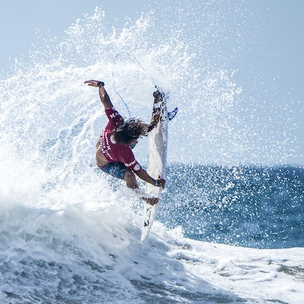_XF24989 - 2015 14th February. Day 8 of the Hurley Australian Open of Surfing held at Manly Beach. Ian Gouveia (BRA) Michael Rodrigues (BRA) . Gouveia...