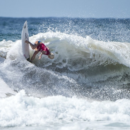 _XF26541 - 2015 15th February. Day 9 of the Hurley Australian Open of Surfing held at Manly Beach. Tatiana Weston (HAW) in action