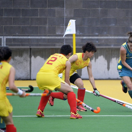 _PB10103 - 2015 4th April. Day 2 International Hockey Sydney. Australia V China
