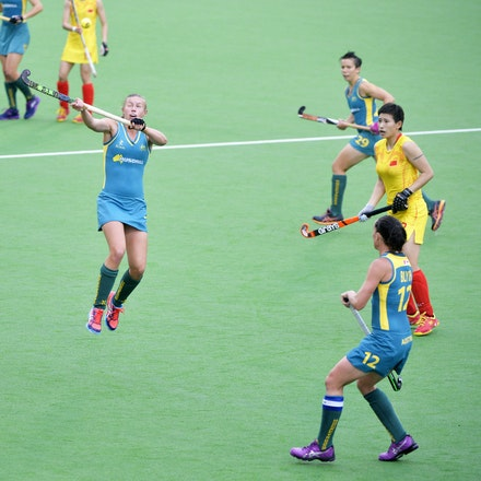 _PB10275 - 2015 4th April. Day 2 International Hockey Sydney. Australia V China