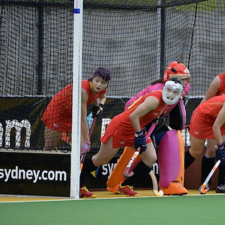 _PB12003 - 2015 6th April. Day 3 International Hockey Sydney. Australia V China. Australia win 3-1 but China wins the series after a 2-0 in the shootout.