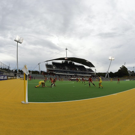 _PB12196 - 2015 6th April. Day 3 International Hockey Sydney. Australia V China. Australia win 3-1 but China wins the series after a 2-0 in the shootout.