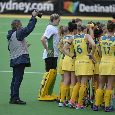 _PB12617 - 2015 6th April. Day 3 International Hockey Sydney. Australia V China. Australia win 3-1 but China wins the series after a 2-0 in the shootout.