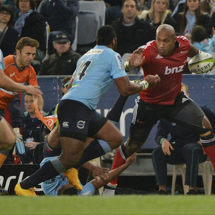 _PB13703 - 2015 May 23, Sanzar Super Rugby, Waratahs V Crusaders. Waratahs defeated Crusaders 32-22, ANZ Stadium, Sydney Olympic Park. Taqele Naiyaravoro...