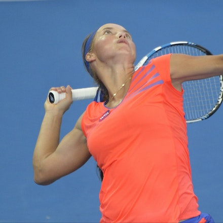 _PB14908 - 1st January 2017, Day 1, Brisbane International Tennis. Karolina Pliskova (CZE) defeats Yulia PUTINTSEVA (KAZ). Putintseva in action