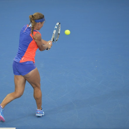 _PB14921 - 1st January 2017, Day 1, Brisbane International Tennis. Karolina Pliskova (CZE) defeats Yulia PUTINTSEVA (KAZ). Putintseva in action