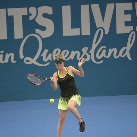 _PB15903 - 2nd January 2017, Day 2, Brisbane International Tennis. Elina SVITOLINA (UKR) defeats Monica PUIG (PUR) IN STRAIGHT SETS. 6-3, 6-3. SVITOLINA...
