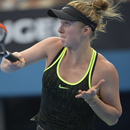 _PB15908 - 2nd January 2017, Day 2, Brisbane International Tennis. Elina SVITOLINA (UKR) defeats Monica PUIG (PUR) IN STRAIGHT SETS. 6-3, 6-3. SVITOLINA...