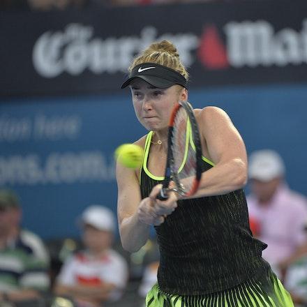 _PB15913 - 2nd January 2017, Day 2, Brisbane International Tennis. Elina SVITOLINA (UKR) defeats Monica PUIG (PUR) IN STRAIGHT SETS. 6-3, 6-3. SVITOLINA...