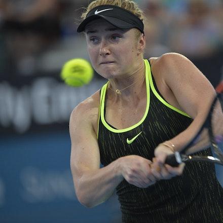 _PB15917 - 2nd January 2017, Day 2, Brisbane International Tennis. Elina SVITOLINA (UKR) defeats Monica PUIG (PUR) IN STRAIGHT SETS. 6-3, 6-3. SVITOLINA...
