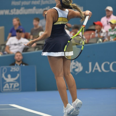 _PB15937 - 2nd January 2017, Day 2, Brisbane International Tennis. Elina SVITOLINA (UKR) defeats Monica PUIG (PUR) IN STRAIGHT SETS. 6-3, 6-3. PUIG in...