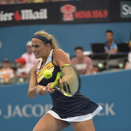 _PB15943 - 2nd January 2017, Day 2, Brisbane International Tennis. Elina SVITOLINA (UKR) defeats Monica PUIG (PUR) IN STRAIGHT SETS. 6-3, 6-3. PUIG in...