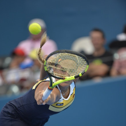 _PB15959 - 2nd January 2017, Day 2, Brisbane International Tennis. Elina SVITOLINA (UKR) defeats Monica PUIG (PUR) IN STRAIGHT SETS. 6-3, 6-3. PUIG in...