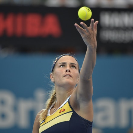 _PB15965 - 2nd January 2017, Day 2, Brisbane International Tennis. Elina SVITOLINA (UKR) defeats Monica PUIG (PUR) IN STRAIGHT SETS. 6-3, 6-3. PUIG in...
