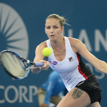 _PB17579 - 3rd January 2017, Day 3, Brisbane International Tennis. Karolina PLISKOVA (CZE) defeats Asia MUHAMMAD (USA) 6-1 6-4 Pliskova in action