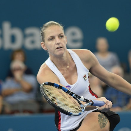 _PB17580 - 3rd January 2017, Day 3, Brisbane International Tennis. Karolina PLISKOVA (CZE) defeats Asia MUHAMMAD (USA) 6-1 6-4 Pliskova in action