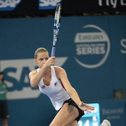 _PB17625 - 3rd January 2017, Day 3, Brisbane International Tennis. Karolina PLISKOVA (CZE) defeats Asia MUHAMMAD (USA) 6-1 6-4 Pliskova in action