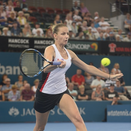_PB17725 - 3rd January 2017, Day 3, Brisbane International Tennis. Karolina PLISKOVA (CZE) defeats Asia MUHAMMAD (USA) 6-1 6-4 Pliskova in action