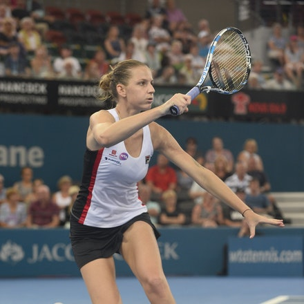 _PB17727 - 3rd January 2017, Day 3, Brisbane International Tennis. Karolina PLISKOVA (CZE) defeats Asia MUHAMMAD (USA) 6-1 6-4 Pliskova in action