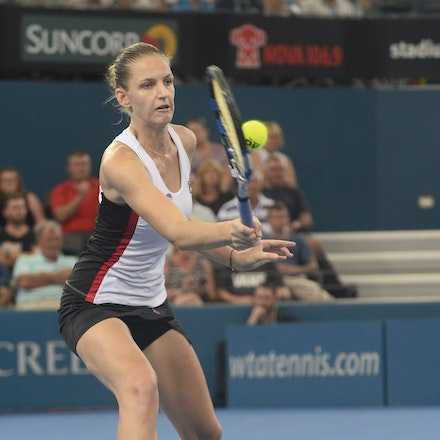 _PB17729 - 3rd January 2017, Day 3, Brisbane International Tennis. Karolina PLISKOVA (CZE) defeats Asia MUHAMMAD (USA) 6-1 6-4 Pliskova in action