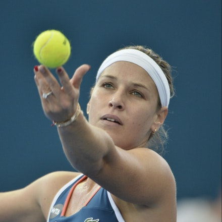 _PB19526 - 3rd January 2017, Day 3, Brisbane International Tennis. Dominika CIBULKOVA (SVK) defeats Shuai ZHANG (CHI) 2-6, 6-4, 6-4 Cibulkova in action