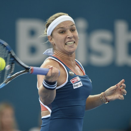 _PB19532 - 3rd January 2017, Day 3, Brisbane International Tennis. Dominika CIBULKOVA (SVK) defeats Shuai ZHANG (CHI) 2-6, 6-4, 6-4 Cibulkova in action