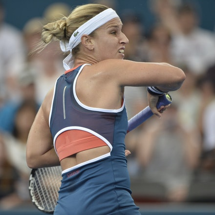 _PB19556 - 3rd January 2017, Day 3, Brisbane International Tennis. Dominika CIBULKOVA (SVK) defeats Shuai ZHANG (CHI) 2-6, 6-4, 6-4 Cibulkova in action