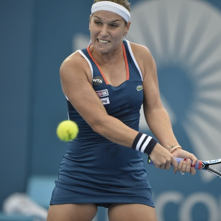 _PB19601 - 3rd January 2017, Day 3, Brisbane International Tennis. Dominika CIBULKOVA (SVK) defeats Shuai ZHANG (CHI) 2-6, 6-4, 6-4 Cibulkova in action