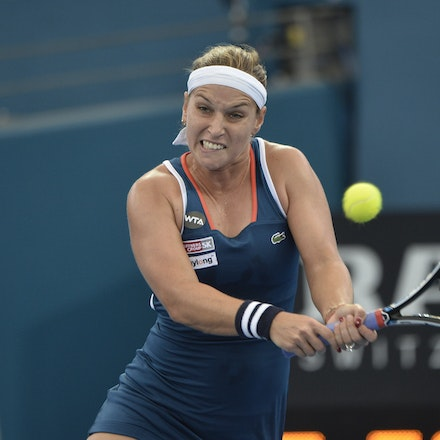 _PB19611 - 3rd January 2017, Day 3, Brisbane International Tennis. Dominika CIBULKOVA (SVK) defeats Shuai ZHANG (CHI) 2-6, 6-4, 6-4 Cibulkova in action