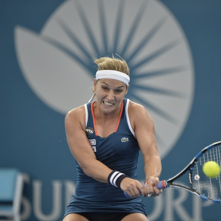_PB19614 - 3rd January 2017, Day 3, Brisbane International Tennis. Dominika CIBULKOVA (SVK) defeats Shuai ZHANG (CHI) 2-6, 6-4, 6-4 Cibulkova in action