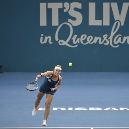 _PB19620 - 3rd January 2017, Day 3, Brisbane International Tennis. Dominika CIBULKOVA (SVK) defeats Shuai ZHANG (CHI) 2-6, 6-4, 6-4 Cibulkova in action