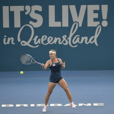 _PB19622 - 3rd January 2017, Day 3, Brisbane International Tennis. Dominika CIBULKOVA (SVK) defeats Shuai ZHANG (CHI) 2-6, 6-4, 6-4 Cibulkova in action