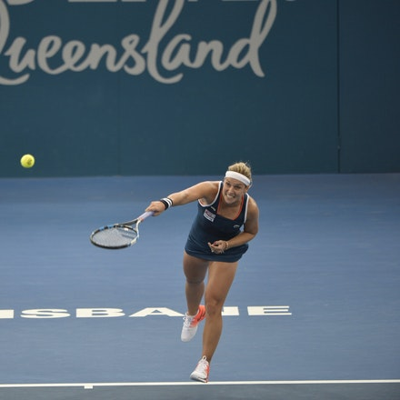 _PB19629 - 3rd January 2017, Day 3, Brisbane International Tennis. Dominika CIBULKOVA (SVK) defeats Shuai ZHANG (CHI) 2-6, 6-4, 6-4 Cibulkova in action